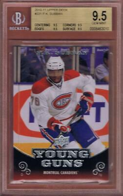 P.k. Subban Rookie 2010-11 Upper Deck Young Guns #231 Bgs 9.5 True Gem Yg Rc