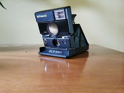 POLAROID SLR 680 Camera Black Circa 1982