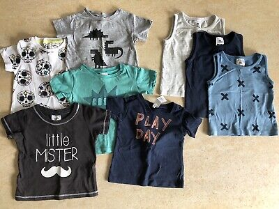 Baby Boy T-shirt & Singlet Bundle,Size 00. To fit 3 - 6 Months.