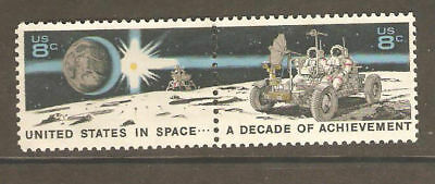 1971 Space Achievement Decade two 8 cents US Postage Stamps Scott #1434-35  MINT