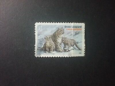 2016 Endangered Animals $1 SNOW LEOPARD s/a fu will combine post