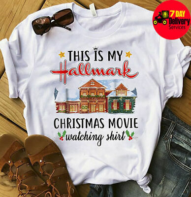 This Is My Hallmark Christmas Movie Watching Shirt White Cotton NEW SIZE S-3Xl