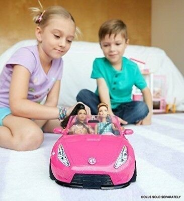 BRAND NEW! Mattel Barbie Glam Convertible Doll Car - 2 Seater Great Gift!