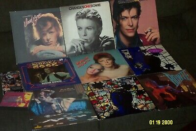 DAVID BOWIE 9 LP LOT w THE MAN WHO SOLD THE WORLD, PIN UPS, CHANGES 1 & 2 +VIDEO