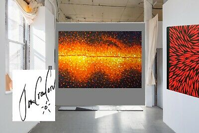 Modern Australia Art Painting oil Canvasabstract fire hand painted Jane Crawford
