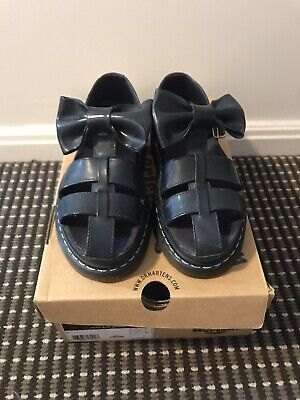 Dr Martens Aggy Bow Sandals In Navy - UK 5, AU 7, EU 38