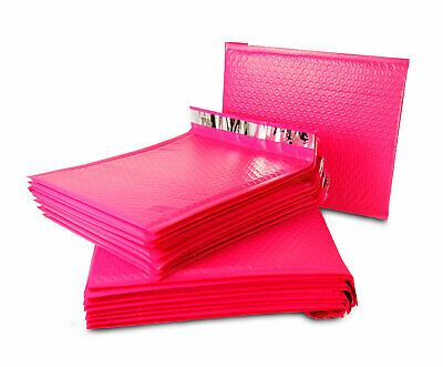 Hot Pink Poly Bubble Mailers Shipping Mailing Padded Bags Envelopes Self-Seal