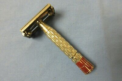 vintage Gillette safety razor marked A3 red tipped handle lot M