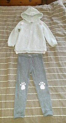 Chelsea's Corner Girl Outfit Size 3-4 Years Chunky Knit Hoody And Leggins