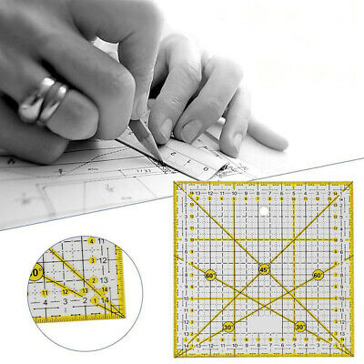 15*15cm Square Patchwork Tailor Cloth Cutting Quilting Ruler DIY Sewing Tool New