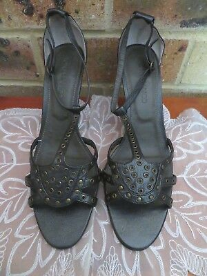 Womens 'Tony Bianco' Leather Shoes. Size 9.5. Gun Metal Grey. Ex Condition
