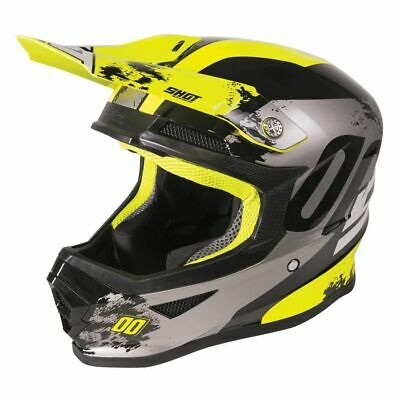 2020 Shot Furious MX Helmet Kids - Shadow Neon Yellow Glossy