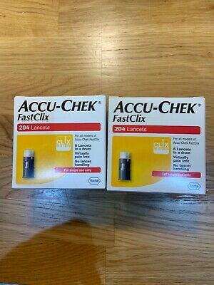 accu check fastclix 2bx With 204 Lancets In Each.