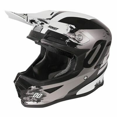 2020 Shot Furious MX Helmet Kids - Shadow Black White Glossy
