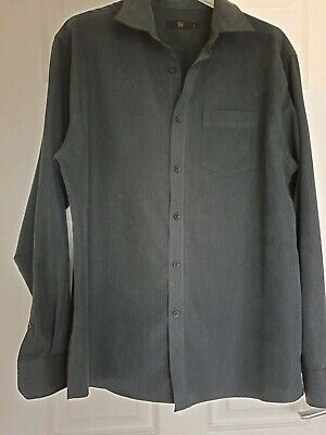 Excellent Condition Tu Long Sleeved Black Find Striped Shirt Size Large