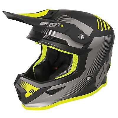2020 Shot Furious MX Helmet Adult - Trust Black Neon Yellow Matt
