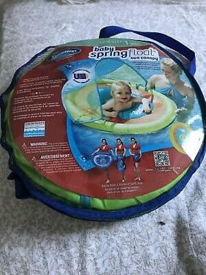 Inflatable Baby Swimming Seat With Sun Canopy - Used But Good Condition