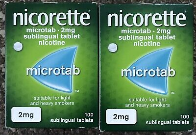 Nicorette microtab 2mg 100 X2 =200tablets GENUINE 25 Off Limited Offers