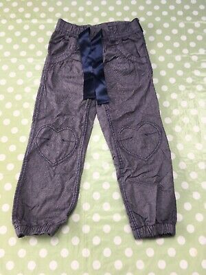 H&M Girls Cotton Trousers Size 4-5 Years