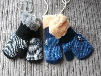 GARMENT HIGH BEST WEAR  Infant Boys Girls  Mittens  FLEECED LINED MITTS  X 2