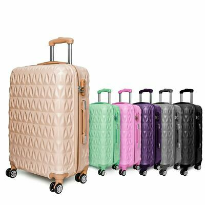 Hard Shell 4 Wheel Spinner Suitcase Case Luggage Trolley Cabin Carry On UK