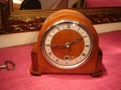 Delightful English Oak Cased  Mantel clock, in superb condition. ( A must see)