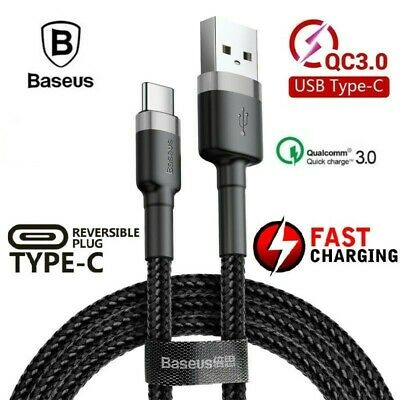 Genuine BASEUS USB TYPE-C Fast Charge Charging Data Sync Cable Cord 0.5 /1M / 2M