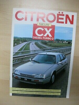 Citroen CX Diesel Turbo 2 brochure Prospekt Dutch text 8 pages 1987