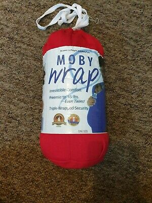 Moby red wrap baby carrier
