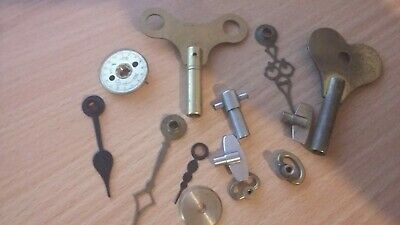 Collection Of Antique/Vintage Clock Keys & parts