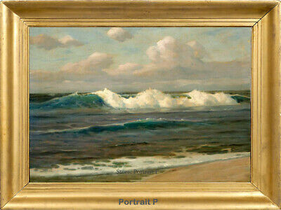 """Old Master Art Vintage Ocean Seascape Oil Painting Realistic on Canvas 24""""x36"""""""