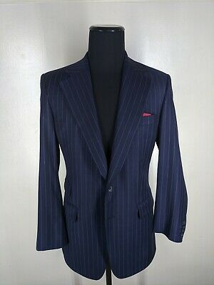 Paul Stuart Vintage Super 150's Wool Suit 2 Btn Side Vents  41 Long    Near Mint
