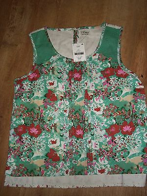 girls next jade floral cotton tunic top age 15 years brand new with tags