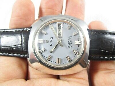 VINTAGE NINO 25 Jewels Automatic Day-Date Swiss Made Watch #V134