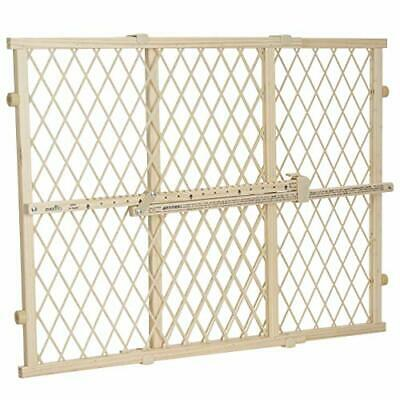 Evenflo Position and Lock Wood Gate Pack of 1 Tan Wood
