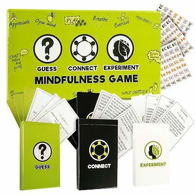 Mindfulness Cards, Therapy for Kids Card Games: 3 Games in 1 Box, Fun Family ...
