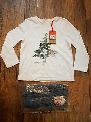 NWT Next Girls Christmas Outfit Top & Leggings Age 3-4