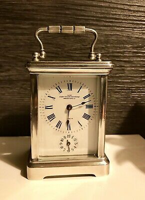 R & Co French Sterling Silver Hallmarked Carriage Alarm Clock Alex Clark