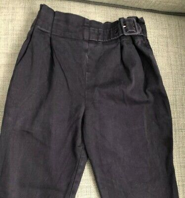 Zara Girls Navy Blue Fitted Trousers, Size Age 9