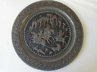 Authentic Antique Hand Crafted Persian Tray/ Table Top