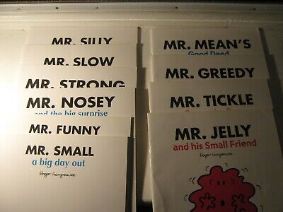Job lot of 10 Mr Men Books