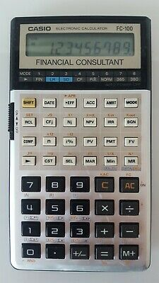 Calculadora Casio Fc-100 Financial Consultant Calculator Vintage