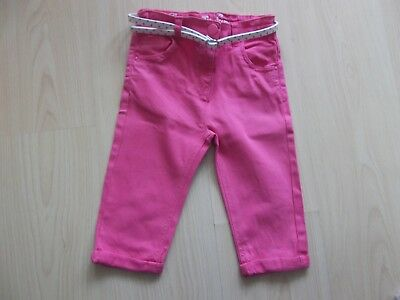 Girls Pink 3/4 Length Trousers With Belt. Aged 6 Years.