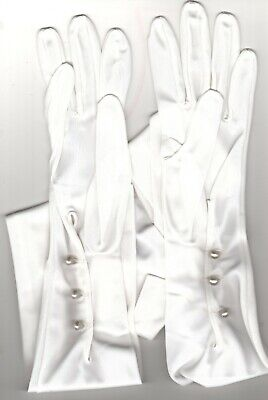CORNELIA JAMES. Vintage Ladies Size 6 Long White Gloves with 3 Pearl Fastenings