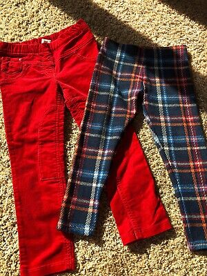 2 Pairs Of Next Trousers Size 3-4 Years