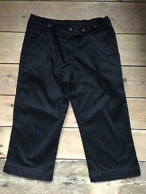 Girls Black Next Cropped Trouser Age 8