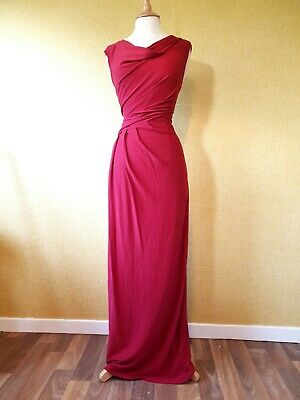 PHASE EIGHT red Maxi Dress Size 14 evening long