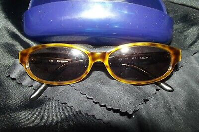 Vintage Gianfranco tortoiseshell sunglasses with blue case signed and numbered