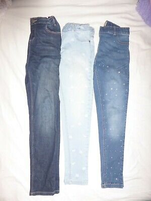 Girls jeans x 3 pairs size 11-12 years great condition