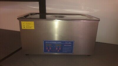 22L Stainless Steel Digital Industrial Heated Ultrasonic Cleaner Tank with Timer